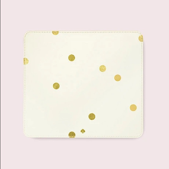New Kate spade gold dot mouse pad stationery